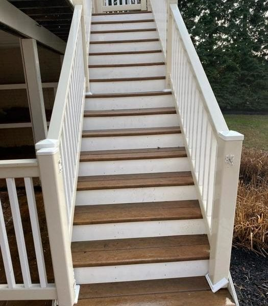 Your decks and fences get exposed to dirt, pollution, pollen, and moisture every day. Eventually, you will start to notice the effects that this exposure has on your wood decks and fences. The fence may look dingy in some areas. Mildew may start to grow in the dark corners of your deck. Pressure washing from our professional crews eliminates these and other problems so you can enjoy the beauty that your decks and fences had when they were new. Benefits of Deck & Fence Cleaning Residential deck and fence cleaning does more than remove dirt from your home's wood surfaces. Many of our repeat clients say that they prefer professional deck and fence cleaning because it: Increases the lifespan of wood by eliminating mildew, moss, and other fungi. Prevents stains that can make wood look unattractive. Improves the safety of their decks and stairs. Removes spiderwebs, nests, and other signs of pests. We constantly improve our approach to give all of our clients the most effective deck and fence cleaning services. Our Deck & Fence Cleaning Process The crews that work at Maryland Pro Wash have access to the latest pressure washing equipment. Our professional pressure washing equipment lets us control the amount of pressure that we use during projects. That means we can clean your decks and fences without damaging the wood. We can also use non-toxic detergents when tackling difficult projects that don't respond to pressure washing. We choose safe detergents to protect the health of your family, pets, plants, and property. When we leave, you won't believe how much better your fence and deck look!
